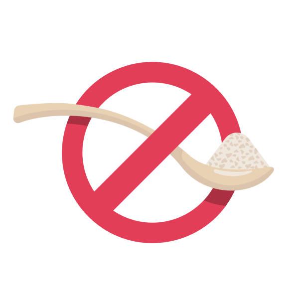 ilustrações de stock, clip art, desenhos animados e ícones de sugar free. no sugar sign. - açúcar