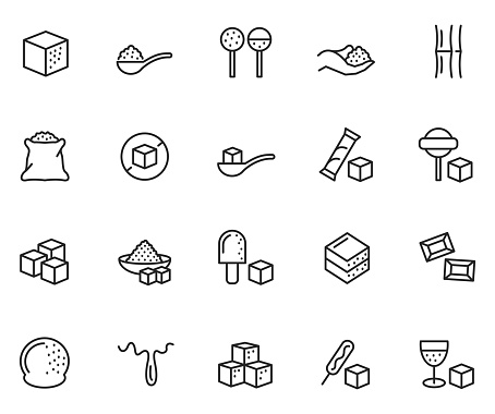 Sugar icon set , vector illustration