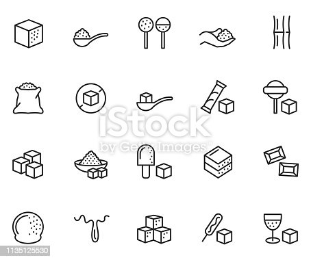 Sugar icon set , vector illustration
