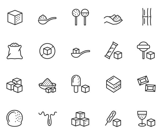 Sugar icon set Sugar icon set , vector illustration candy icons stock illustrations