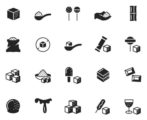 ilustrações de stock, clip art, desenhos animados e ícones de sugar icon set - açúcar
