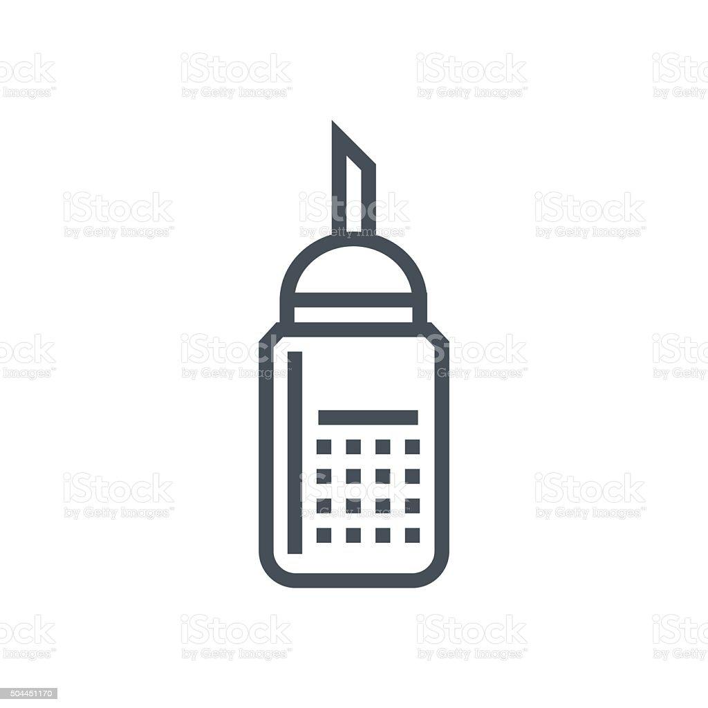 Sugar icon vector art illustration