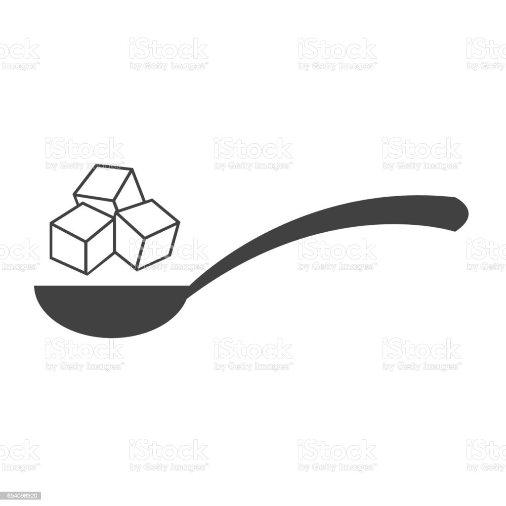 sugar icon vector art illustration