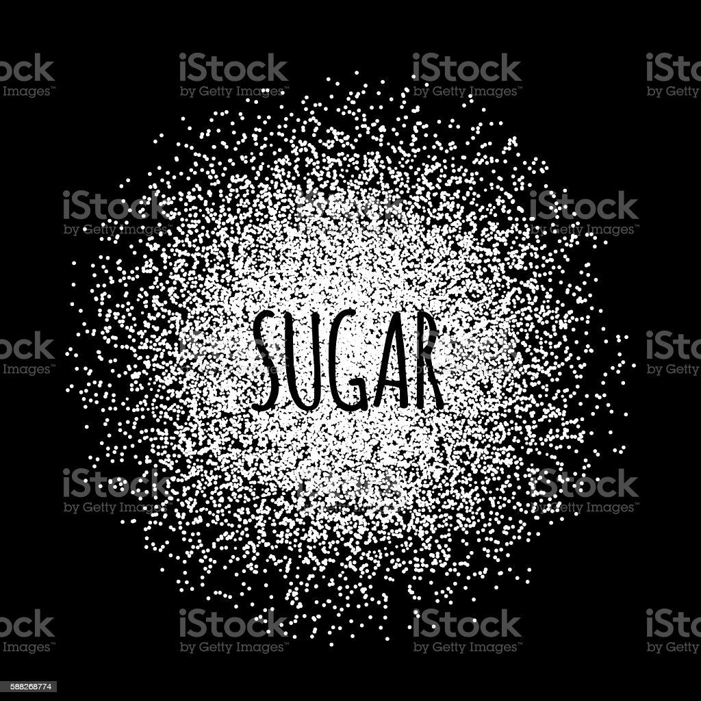 Sugar made of white dots. vector art illustration