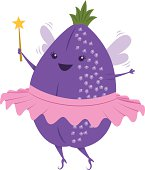 An adorable sugar plum fairy complete with tutu, wand, and leaf crown.
