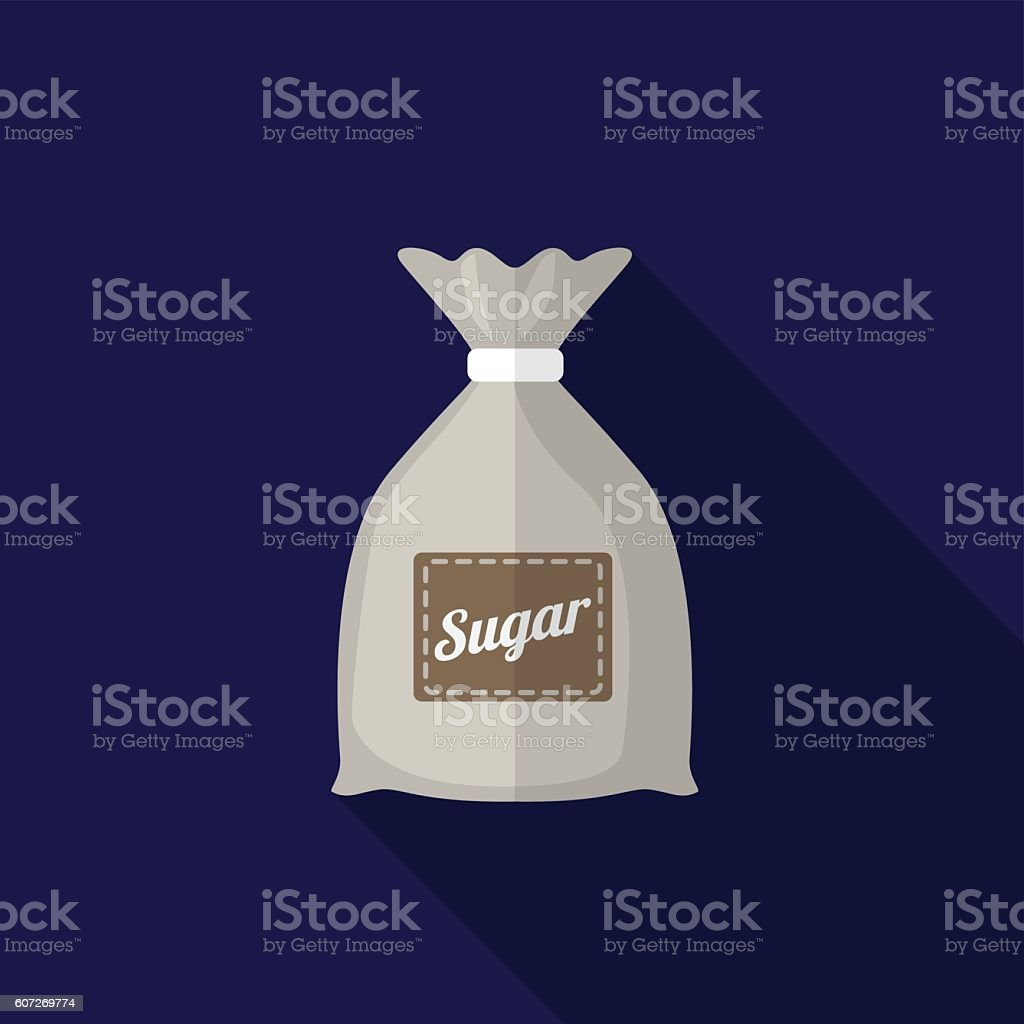 Sugar sack flat icon illustration vector art illustration