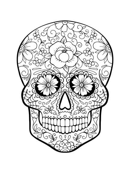 Calaveras Mexicanas Para Colorear Vectores Libres De