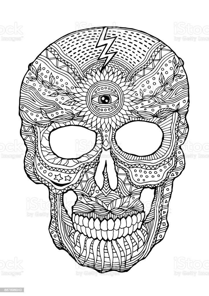 Ilustración de Día De Calavera De Azúcar De La Muertos Humanos ...