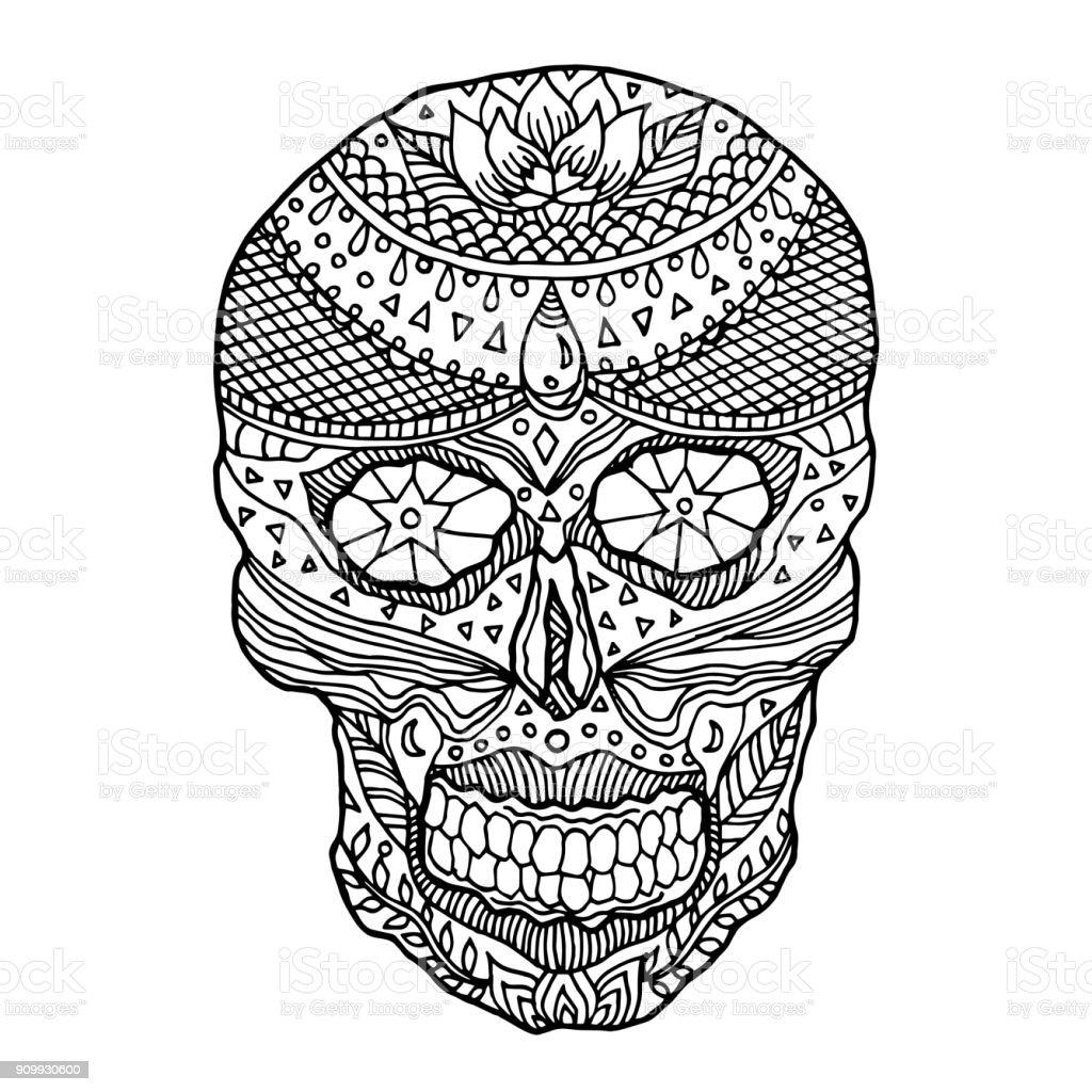 Ilustración De Día De Calavera De Azúcar De La Muertos Humanos