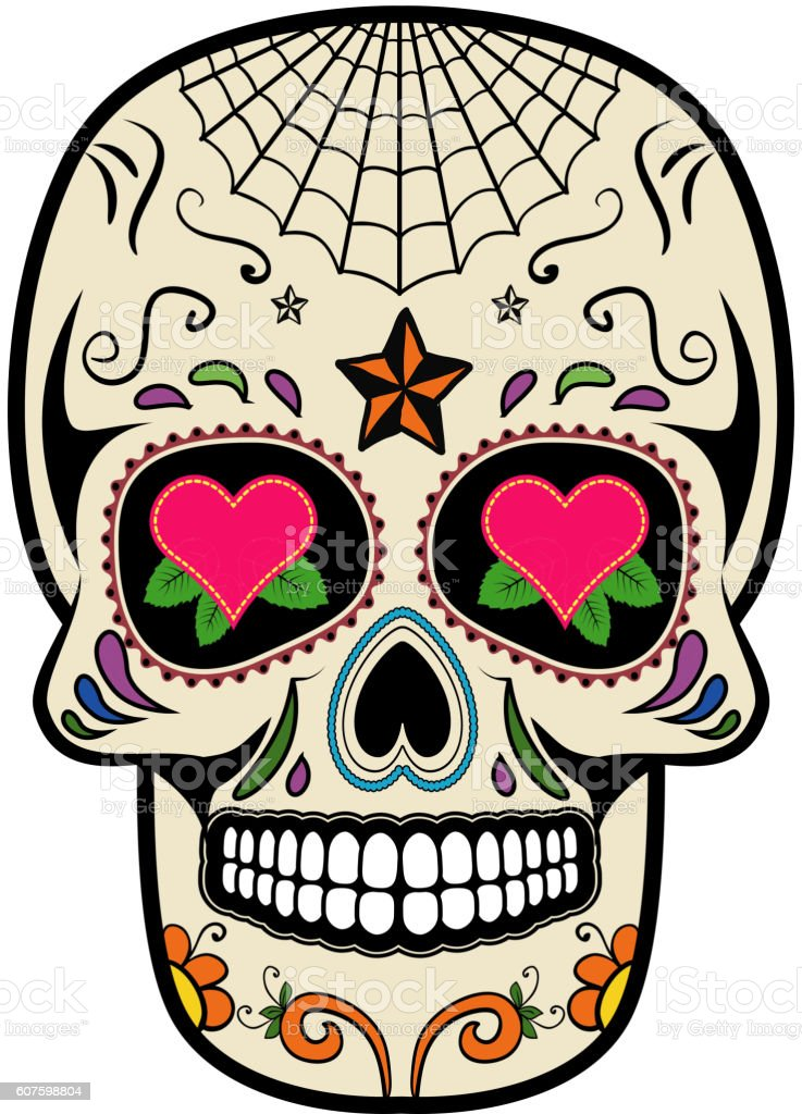 sugar skull isolated on white background day of the dead stock rh istockphoto com day of the dead girl vector day of the dead vector art