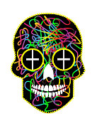 istock Sugar skull vector, Day of the dead colorful icon background. 1278007360
