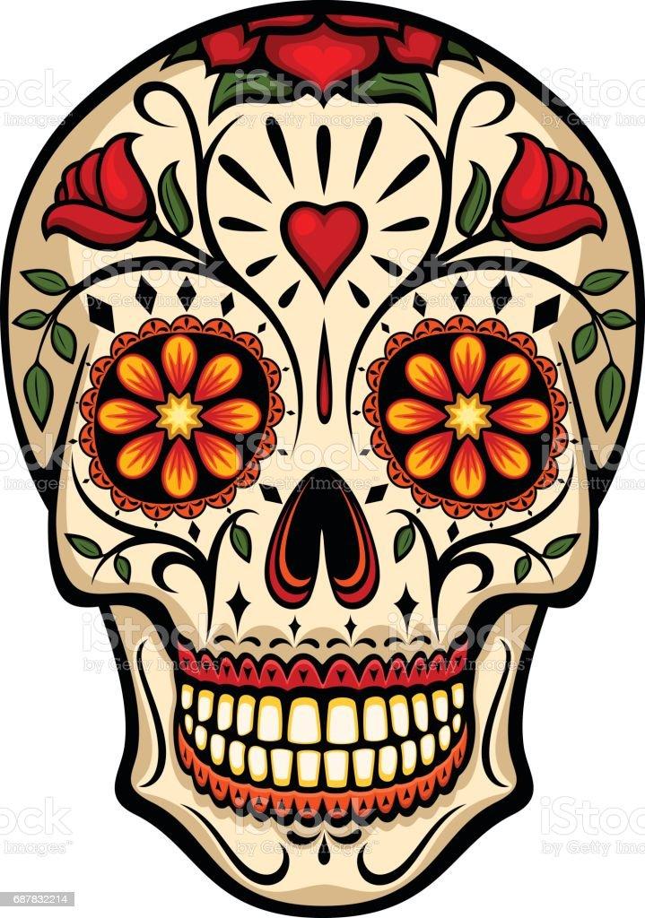royalty free sugar skull clip art vector images illustrations rh istockphoto com sugar skull clipart black