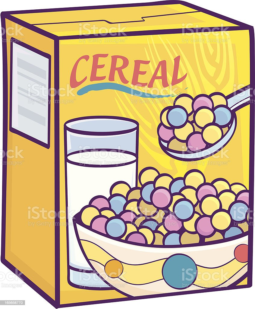 royalty free breakfast cereal clip art vector images rh istockphoto com  cereal box clipart free