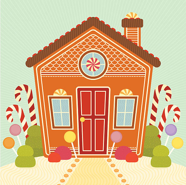 gingerbread house - gummibonbon stock-grafiken, -clipart, -cartoons und -symbole