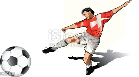 istock Suisse soccer player 95403325