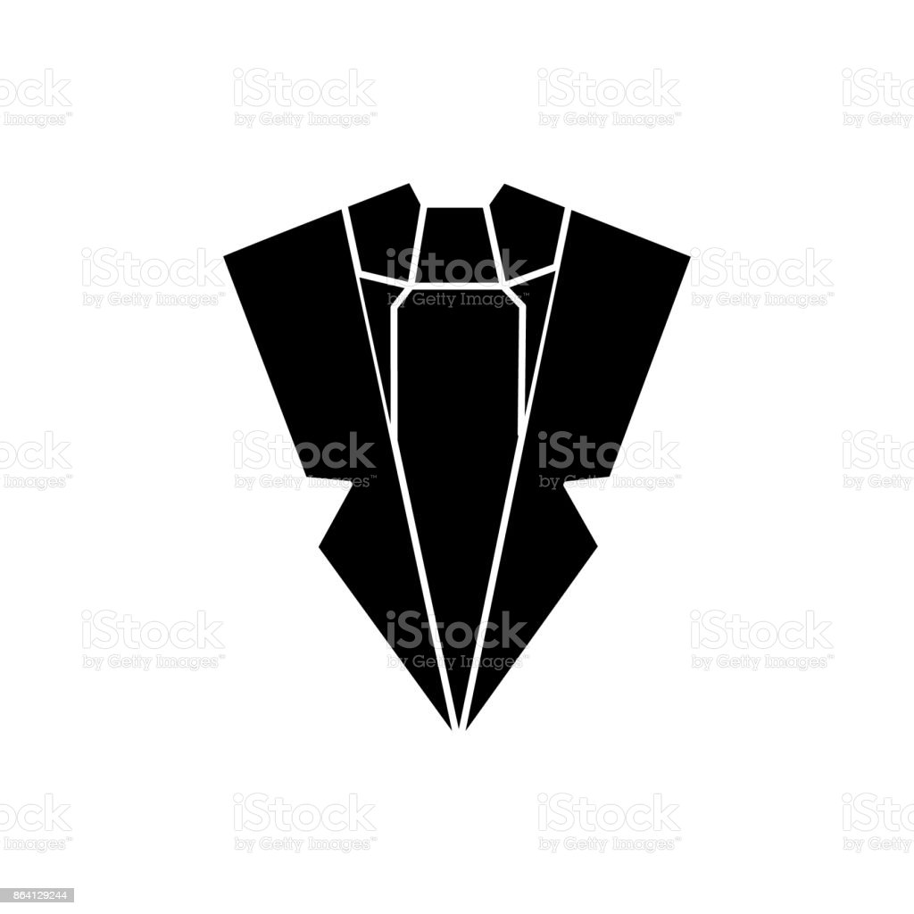 suit and tie  icon, vector illustration, sign on isolated background royalty-free suit and tie icon vector illustration sign on isolated background stock vector art & more images of adult
