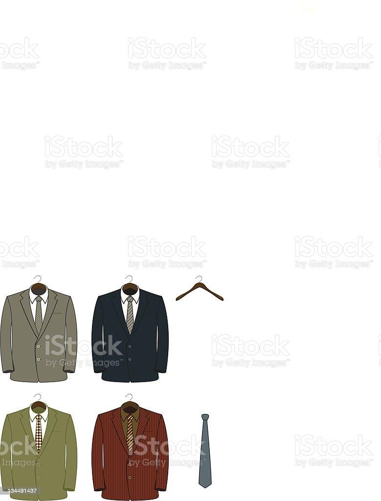 Suit Coats royalty-free stock vector art