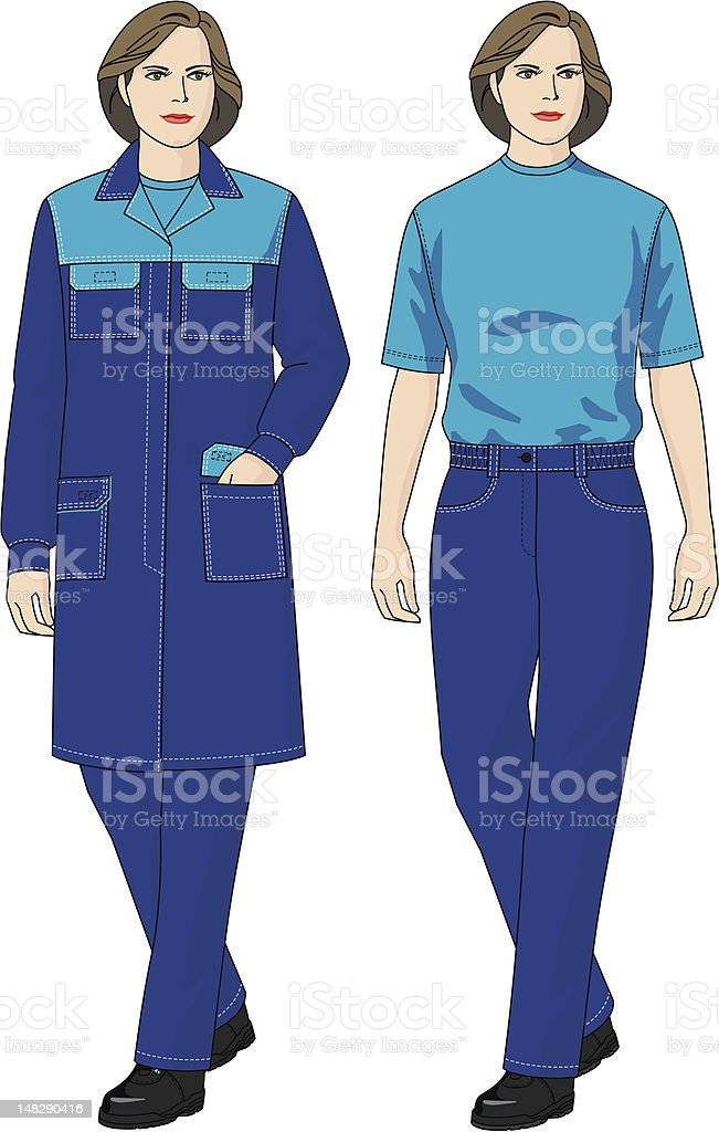 Suit for the woman vector art illustration