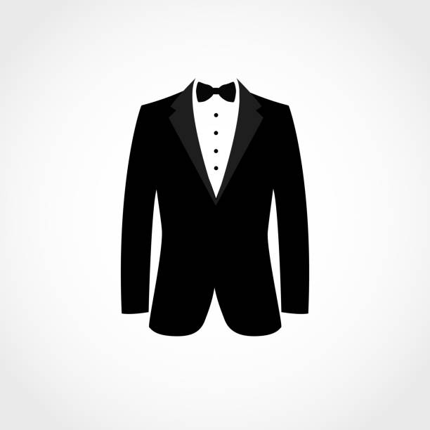 Suit icon isolated on white background. Suit icon isolated on white background. Vector illustration tuxedo stock illustrations