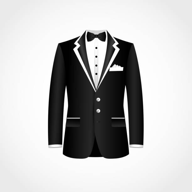 ilustrações de stock, clip art, desenhos animados e ícones de suit icon isolated on white background. - smoking