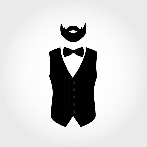 529b4263326c Top 60 Beard Silhouette Men Bow Tie Clip Art, Vector Graphics and ...