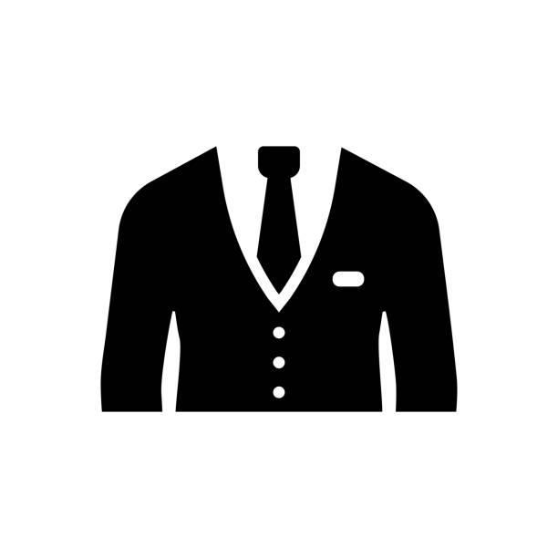 stockillustraties, clipart, cartoons en iconen met pak pictogram - men blazer
