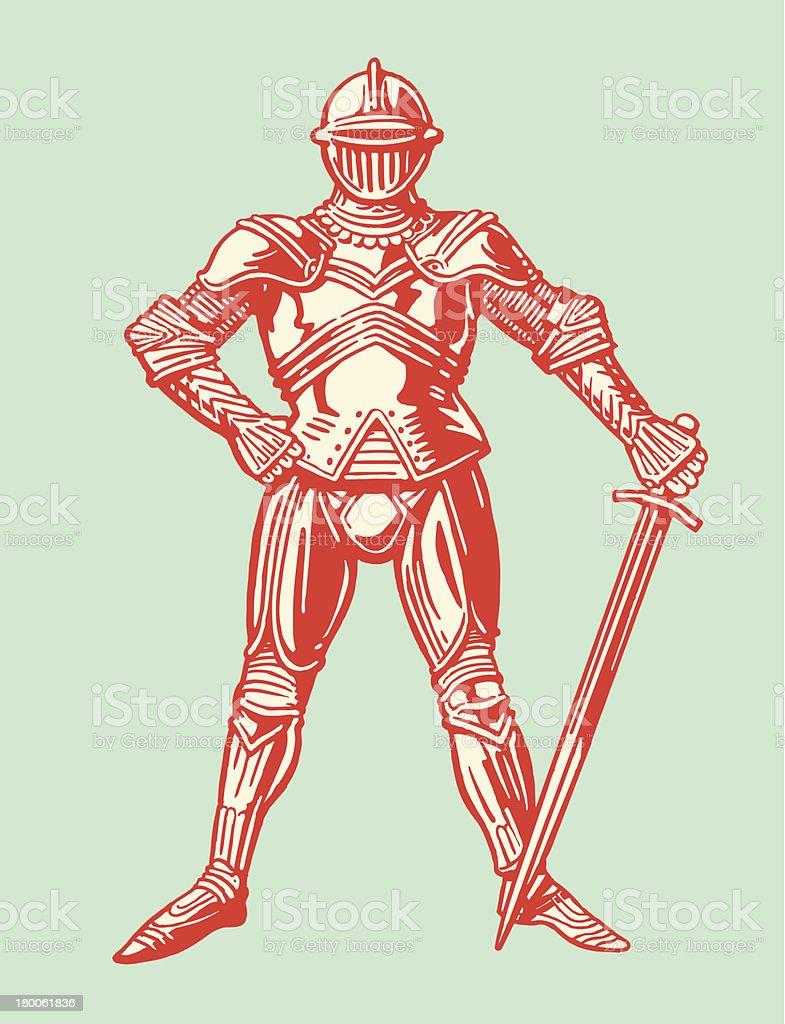 Suit of Armor vector art illustration