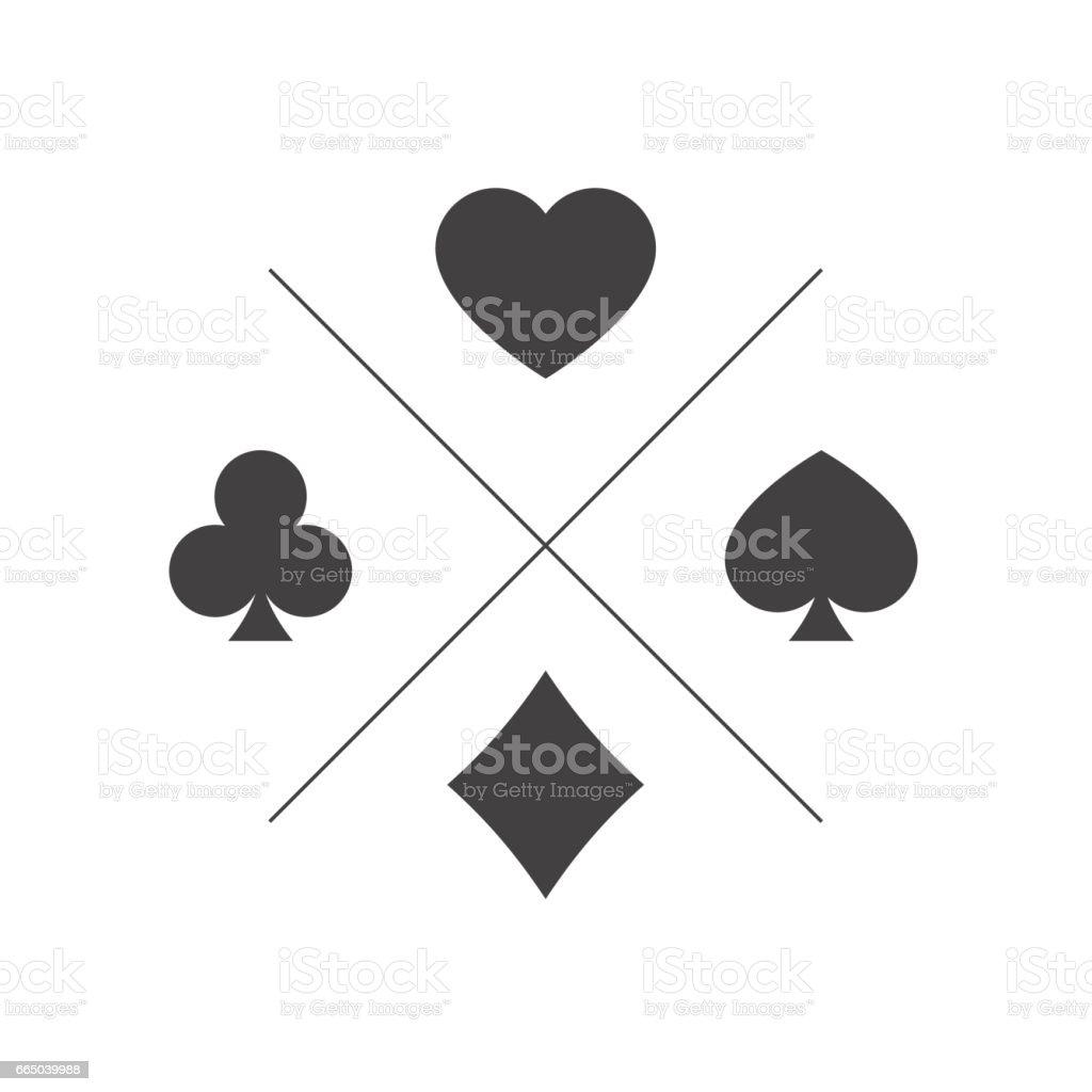 Terno de ícone de jogar cartas - ilustração de arte em vetor