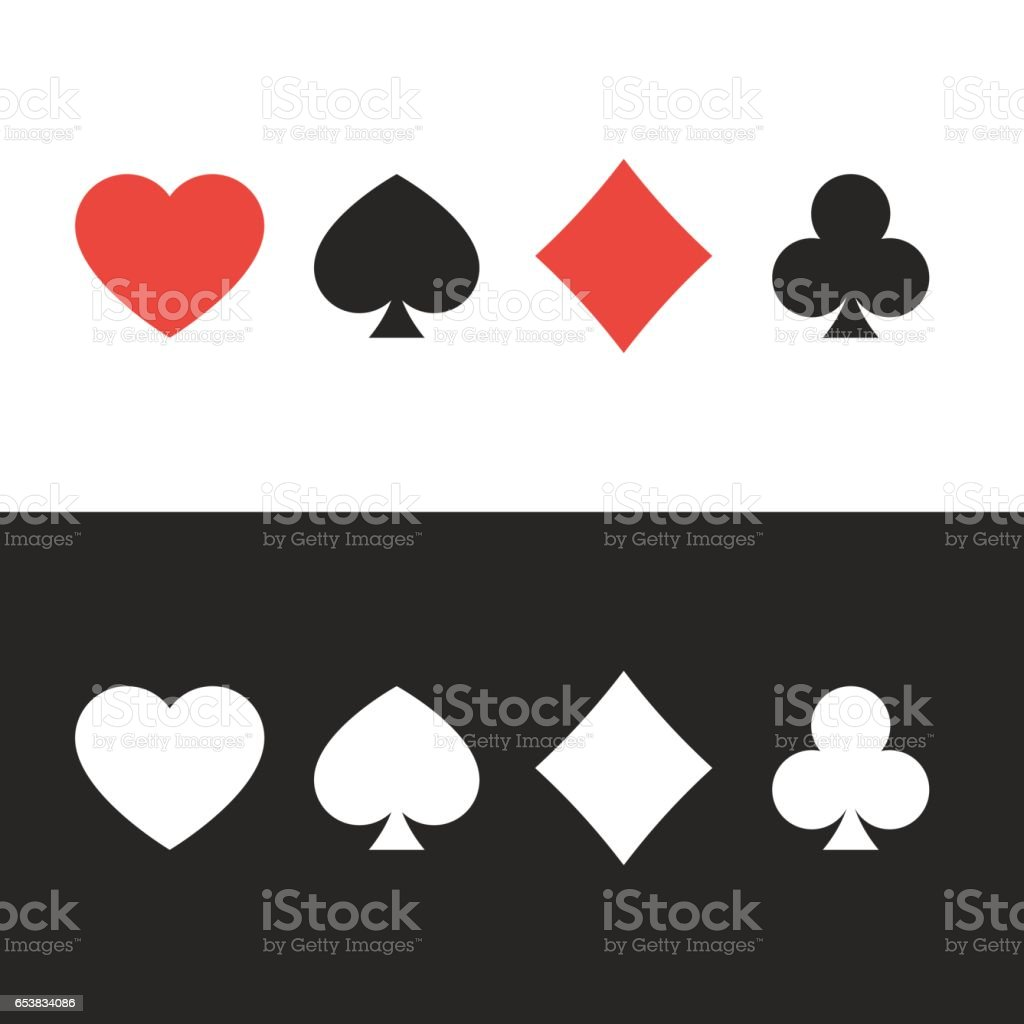 Suit of playing cards vector art illustration