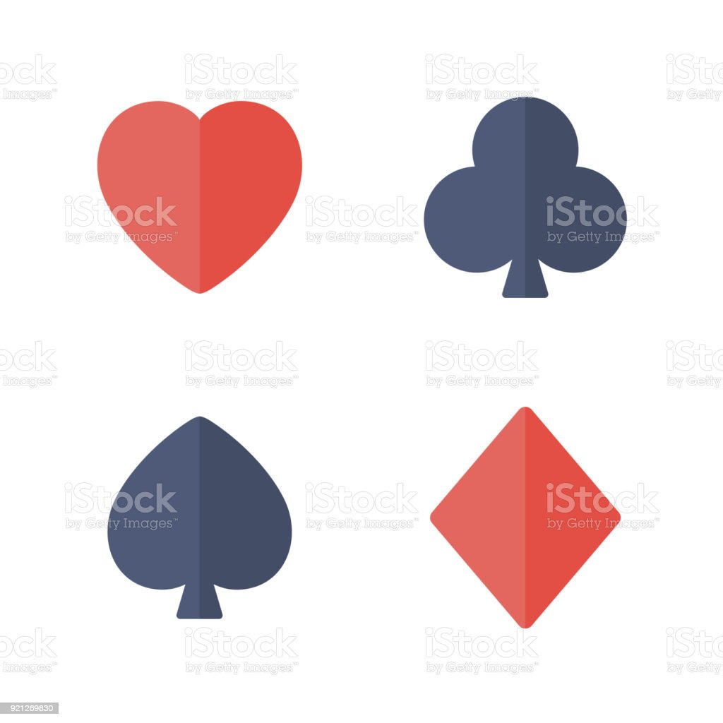 Suit of playing cards. vector art illustration