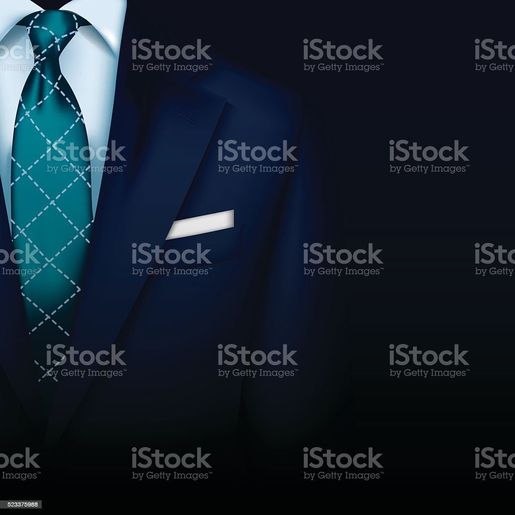 Suit vector background with tie vector art illustration