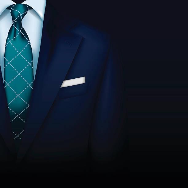 Anzug Vektor Hintergrund mit Krawatte – Vektorgrafik