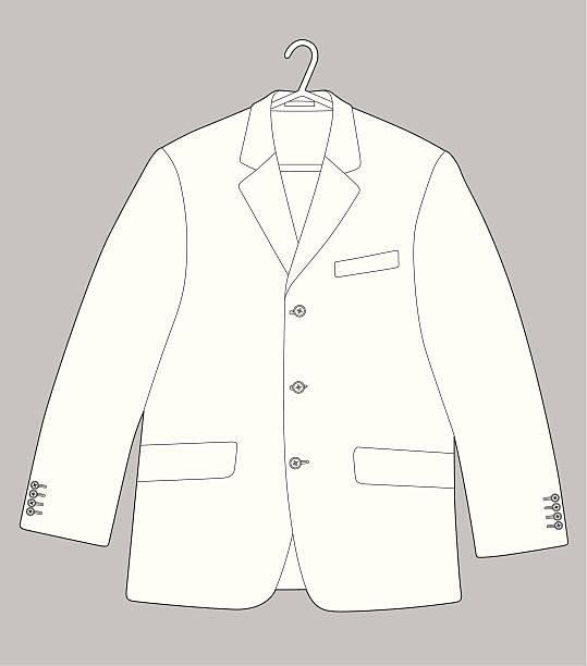 stockillustraties, clipart, cartoons en iconen met suit - men blazer