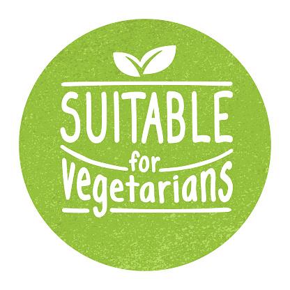 Suitable for Vegetarians - vegan-friendly badge
