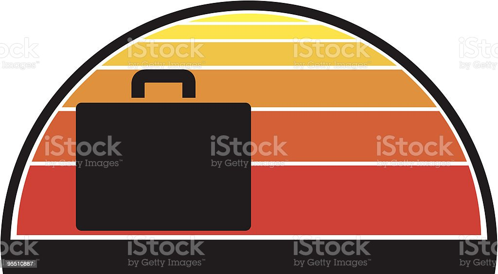 Suitcase against a summer sunset royalty-free suitcase against a summer sunset stock vector art & more images of back lit