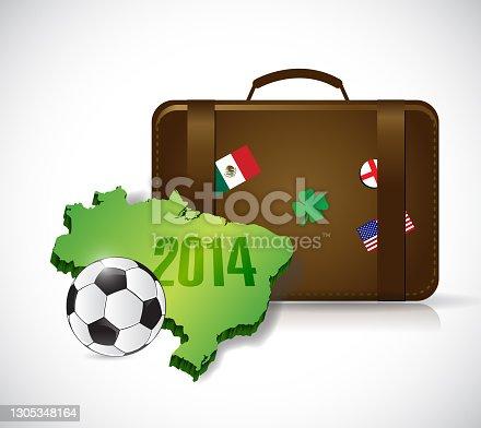 istock Suitcase brazil 2014 trip illustration design 1305348164