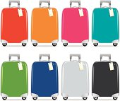 Suitcase colourful. EPS and JPG. Vector.