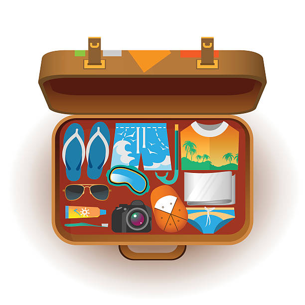 Best Open Suitcase Illustrations, Royalty-Free Vector ...