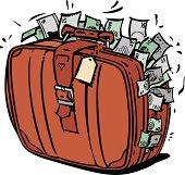 istock Suitcase full of money. 512937681