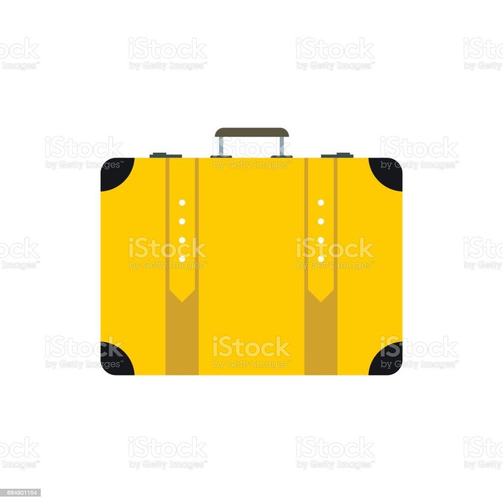 Koffer-Symbol flach Lizenzfreies koffersymbol flach stock vektor art und mehr bilder von aktentasche