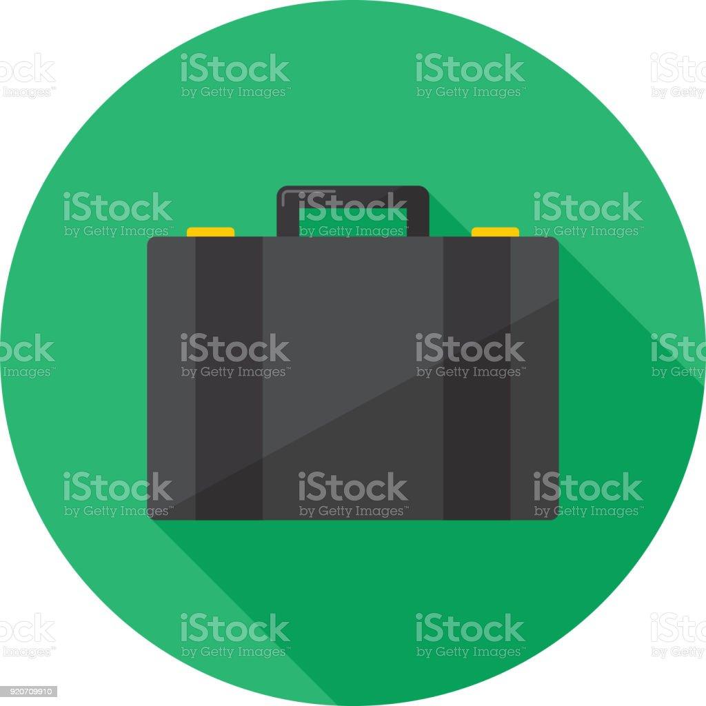 Koffer-Symbol flach – Vektorgrafik
