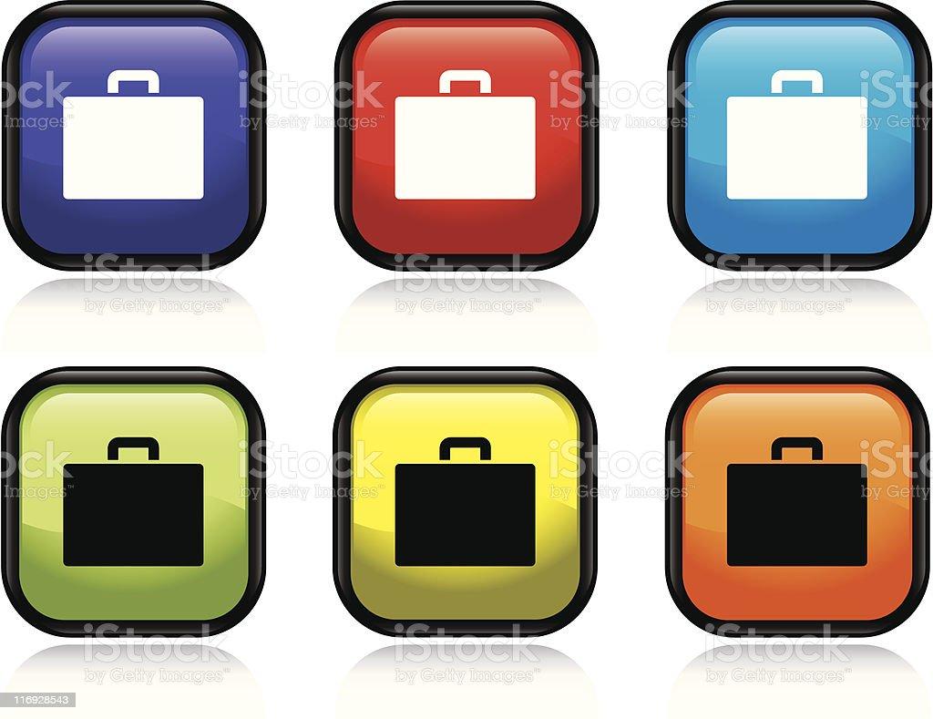 Suitcase Icon vector art illustration