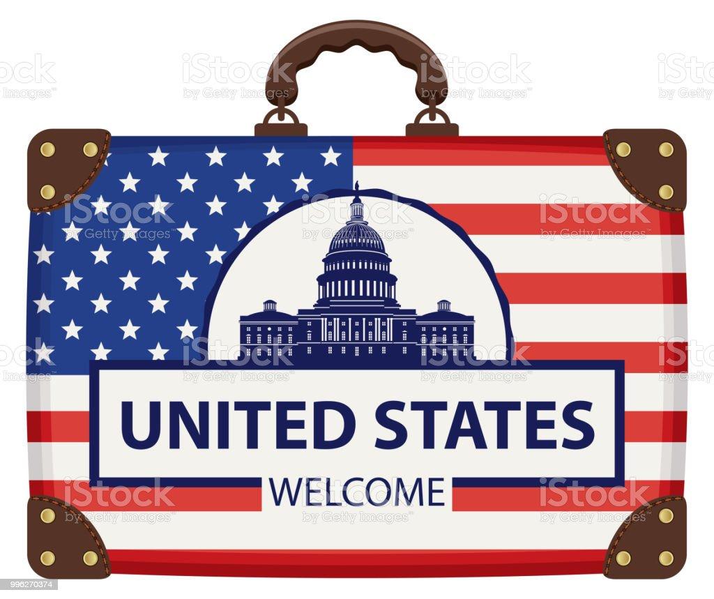 dc29a48b1 maleta de colores de la bandera americana ilustración de maleta de colores  de la bandera americana