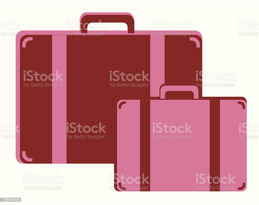 suitcases royalty-free stock vector art