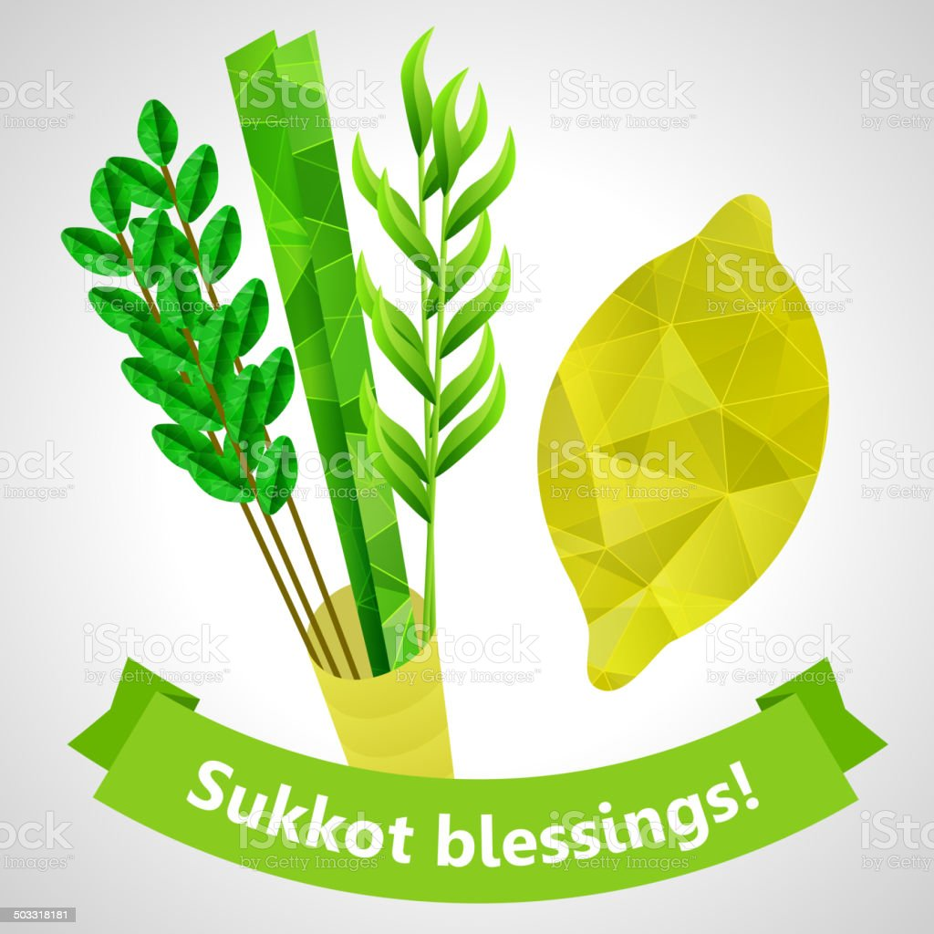 Sukkot symbols royalty-free stock vector art
