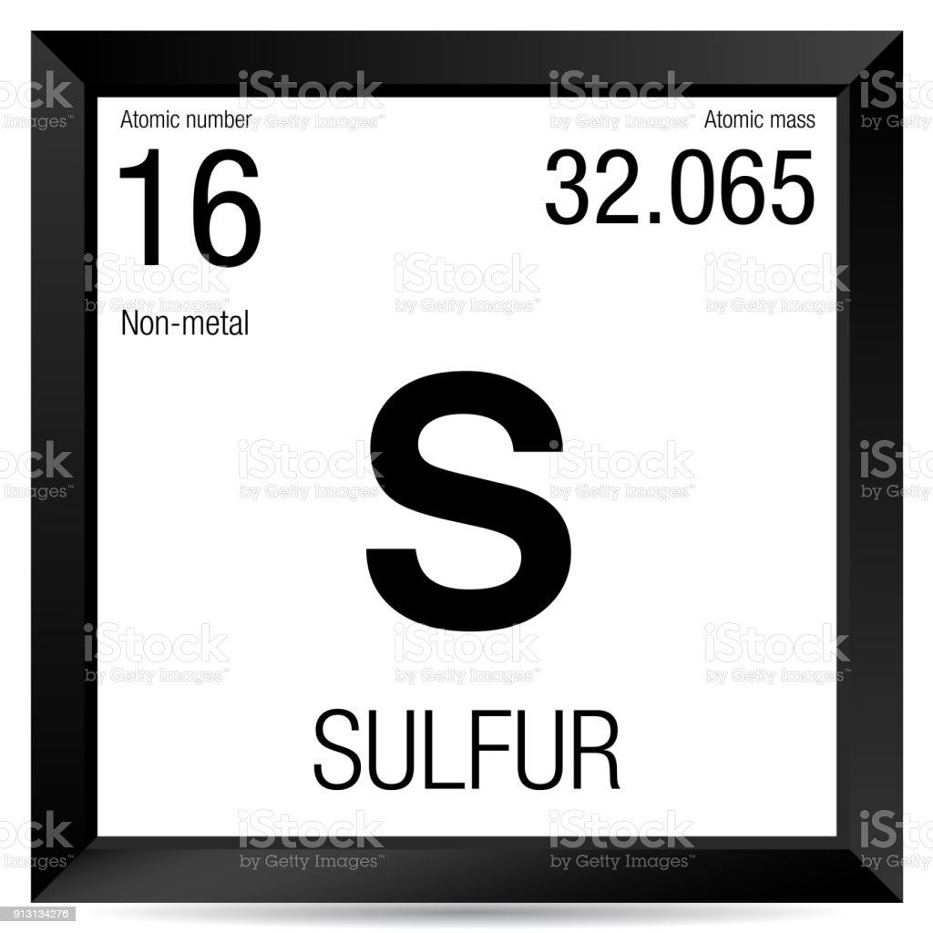 Sulfur Symbol Element Number 16 Of The Periodic Table Of The