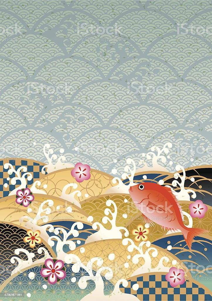 Sum pattern of the sea of Japan vector art illustration