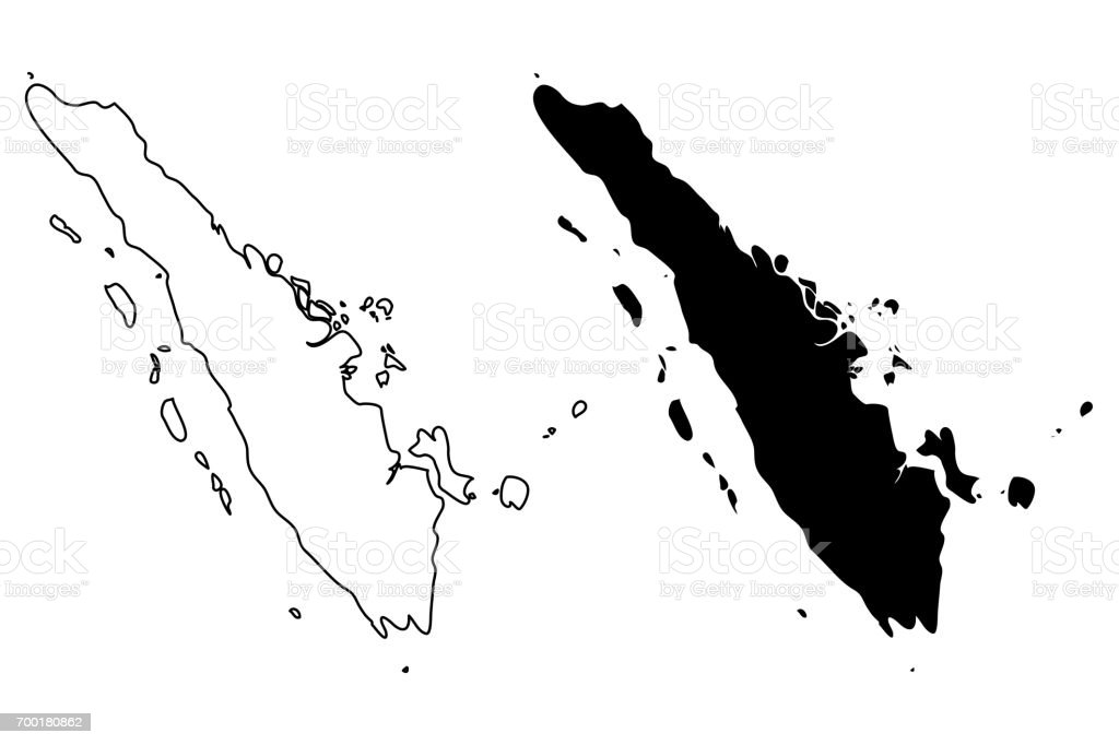 Sumatra map vector royalty free sumatra map vector