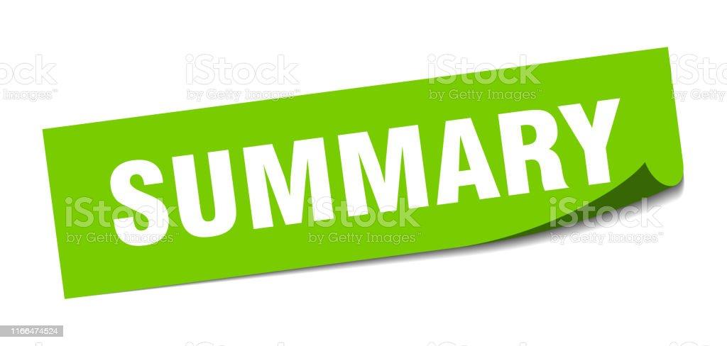 Autocollant Sommaire Signe Isole Carre Sommaire Resume Vecteurs Libres De Droits Et Plus D Images Vectorielles De Autocollant Istock
