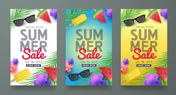 ilustraciones, imágenes clip art, dibujos animados e iconos de stock de verano 03 - verano